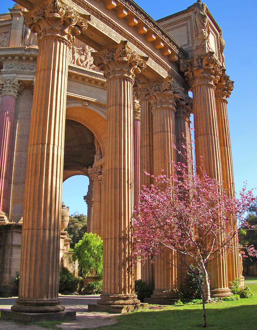 Palace of Fine Arts Bild Attraktion  San Francisco